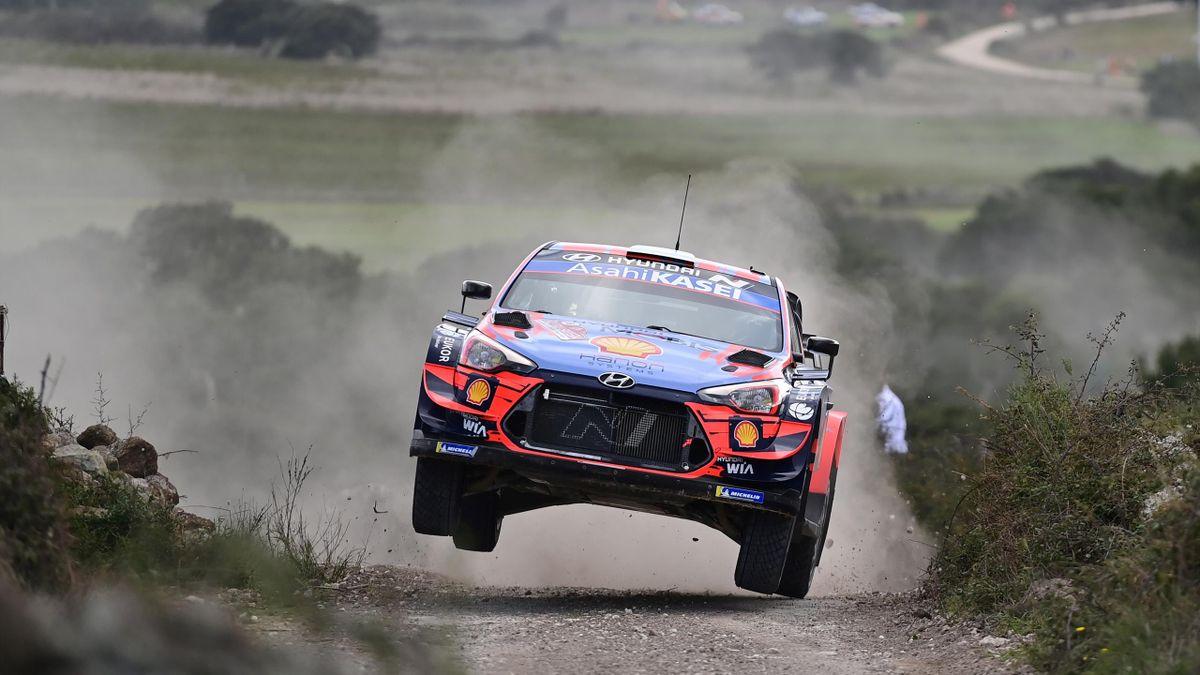 Dani Sordo (Hyundai) sur le rallye de Sardaigne