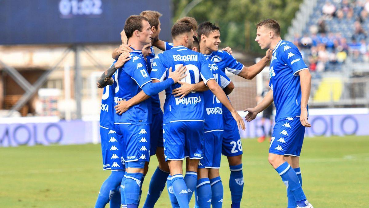 I giocatori dell'Empoli esultano - Empoli-Bologna - Serie A 2021-22