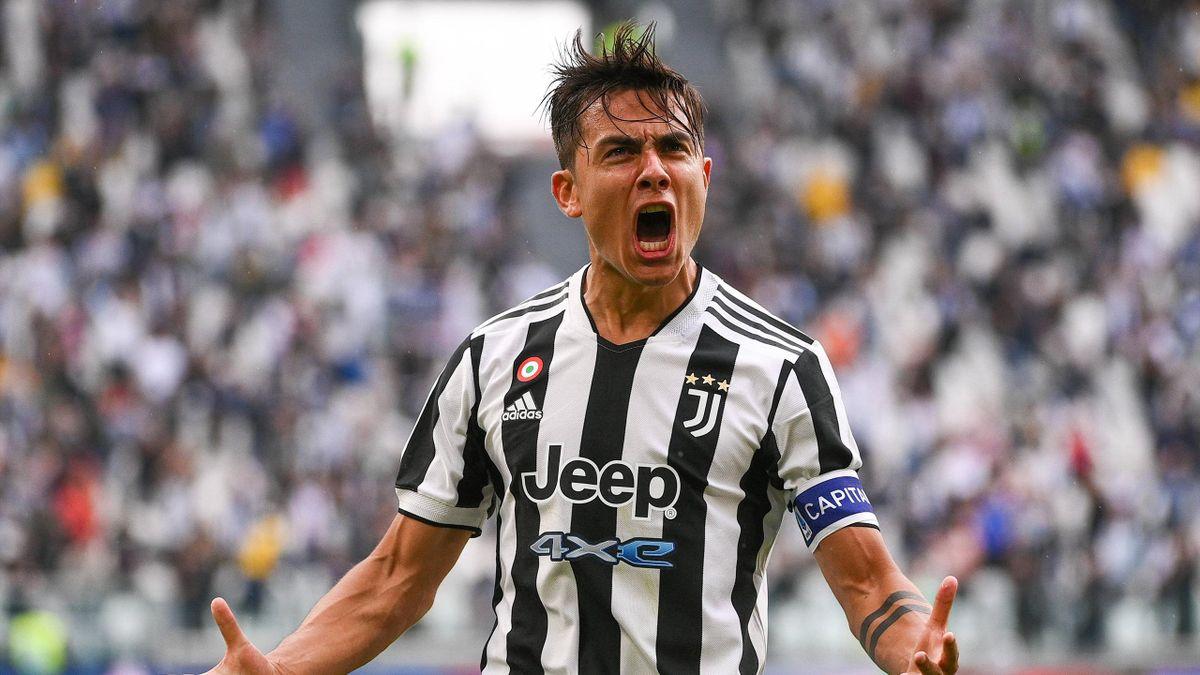 La gioia di Paulo Dybala dopo il gol - Juventus-Sampdoria Serie A 2021-22