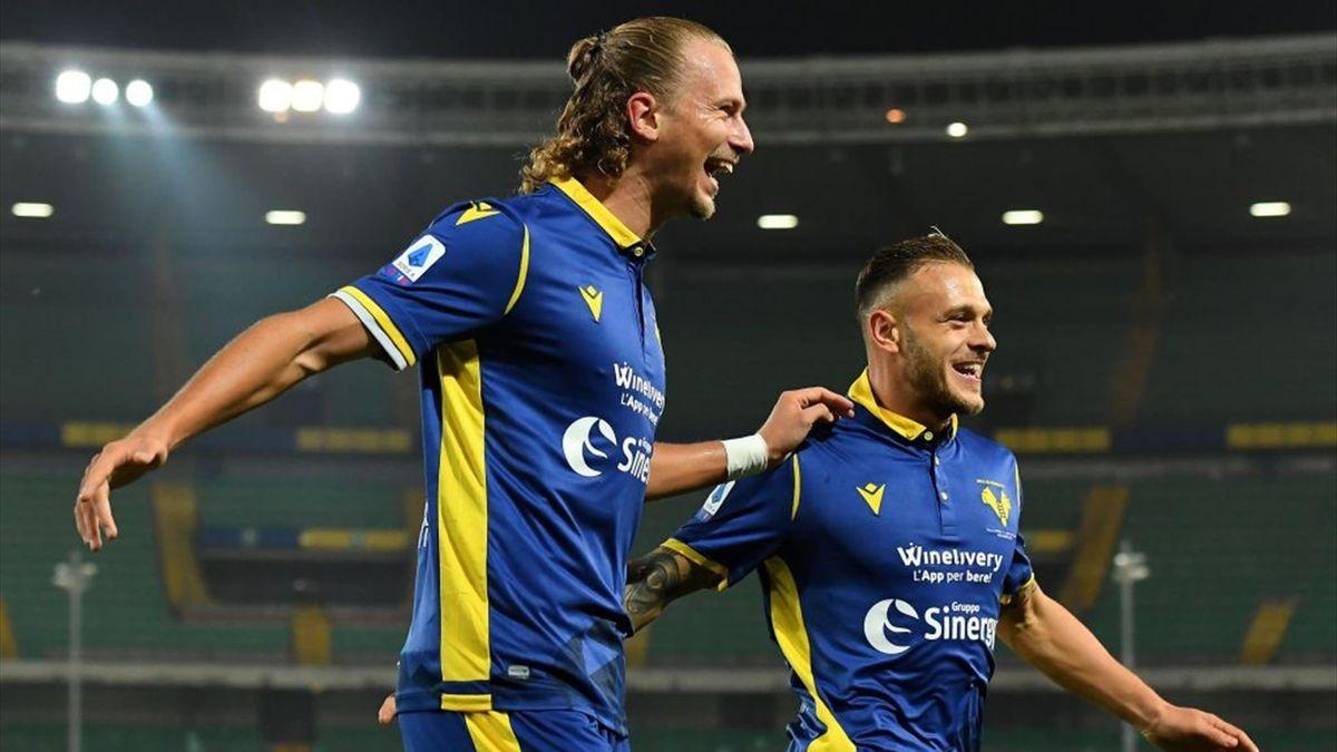 Il gol di Barak in Verona-Benevento