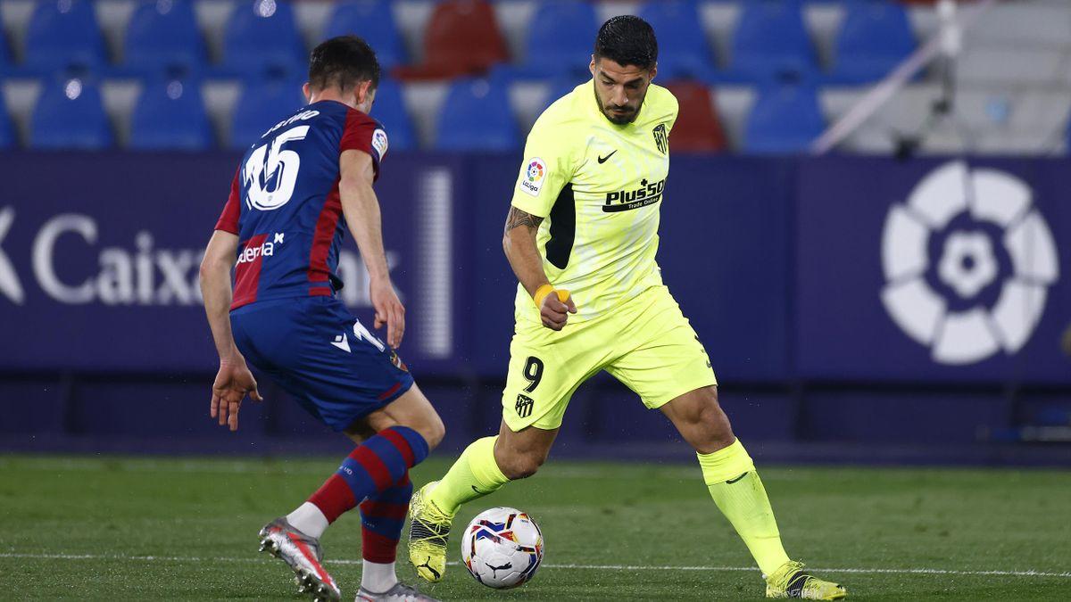 Luis Suarez (Atlético) face à Levante