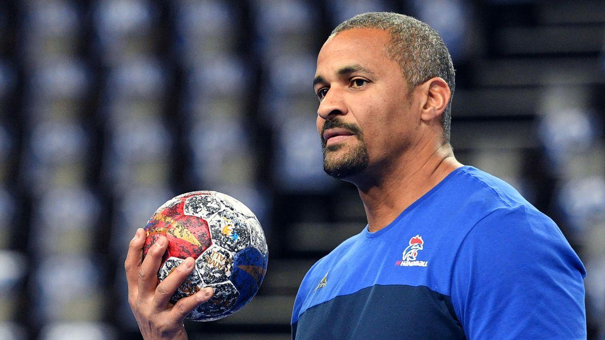 Didier Dinart, le sélectionneur de l'équipe de France de handball durant le Mondial 2017