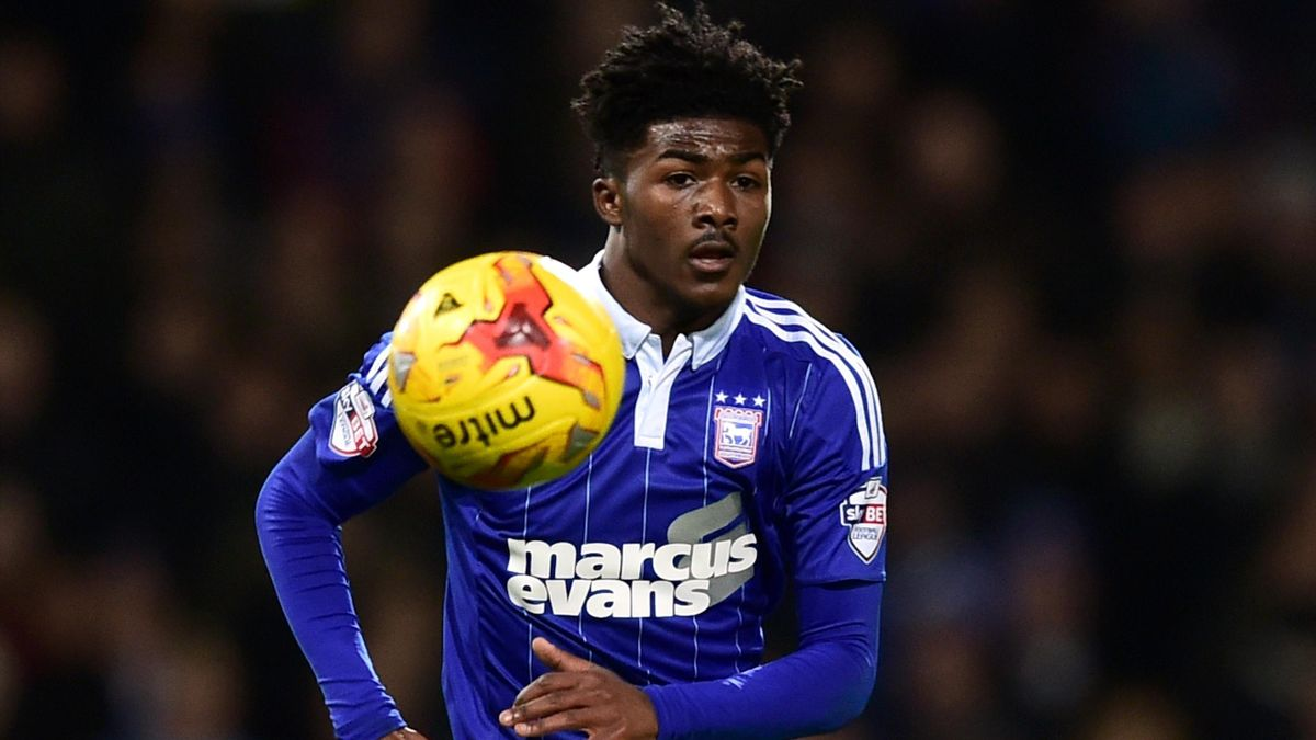 Ipswich Town's Ainsley Maitland-Niles, on loan from Arsenal