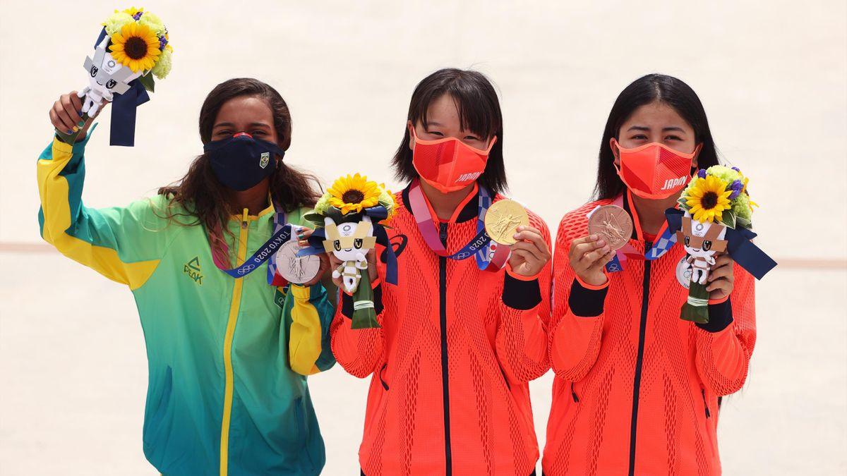Rayssa Leal, Momiji Nishiya, Funa Nakayama