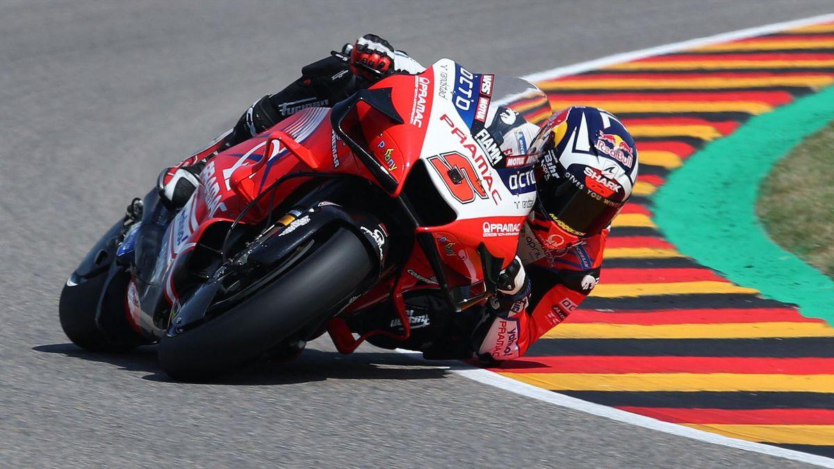 Johann Zarco (Pramac) lors de la qualification du Grand Prix d'Allemagne