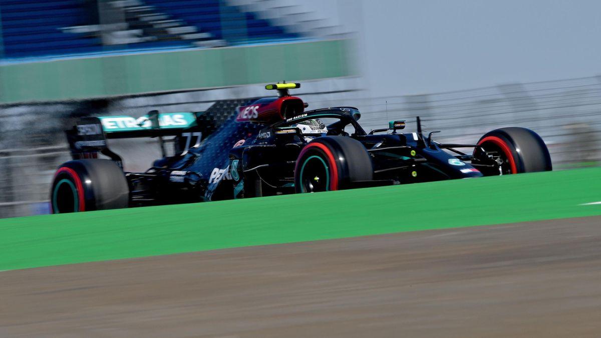 Valtteri Bottas (Mercedes) au Grand Prix du 70e anniversaire 2020