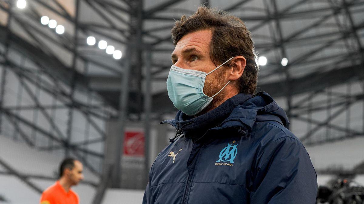 André Villas-Boas lors du match opposant Marseille à Nîmes, le 16 janvier 2021