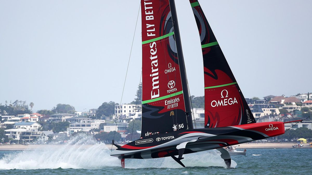 Team New Zealand lors des America's Cup World Series (ACWS) en 2020