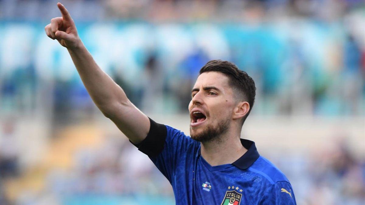 Jorginho durante Italia-Galles - Euro 2020