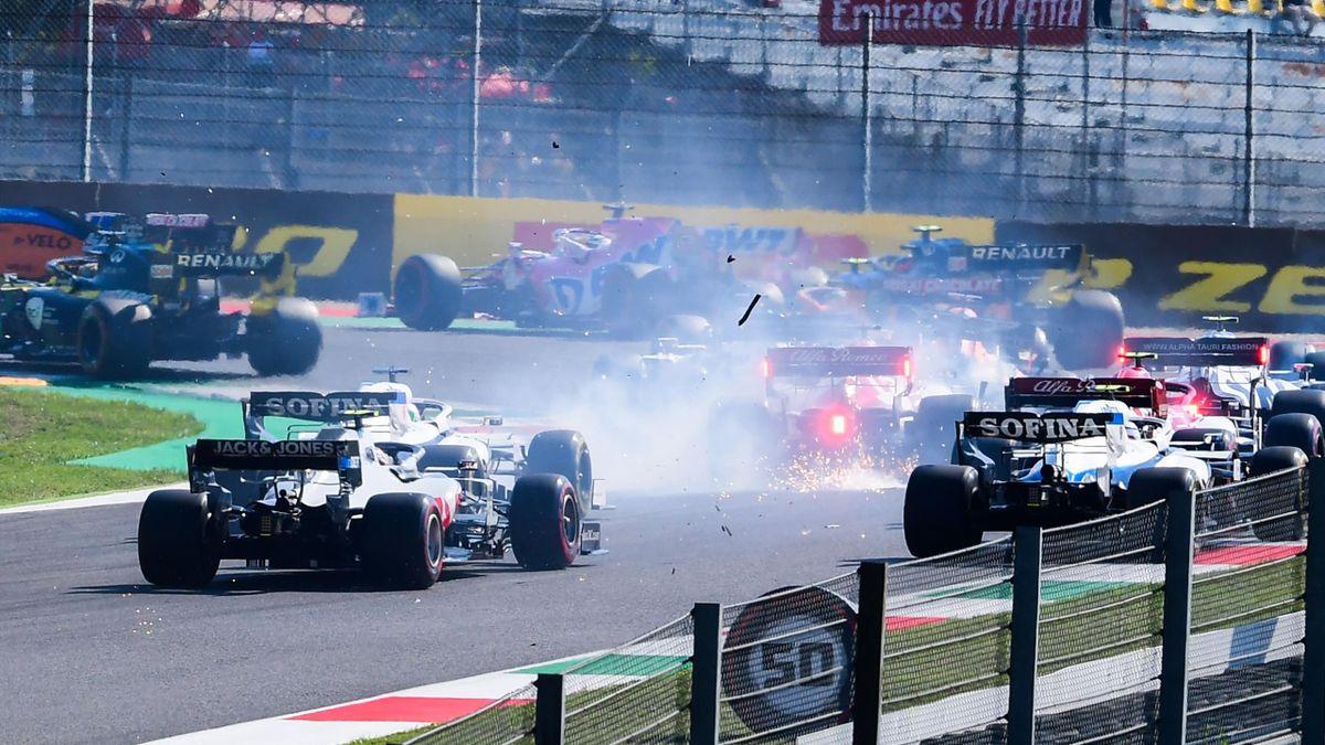 A crash at the Tuscan Grand Prix