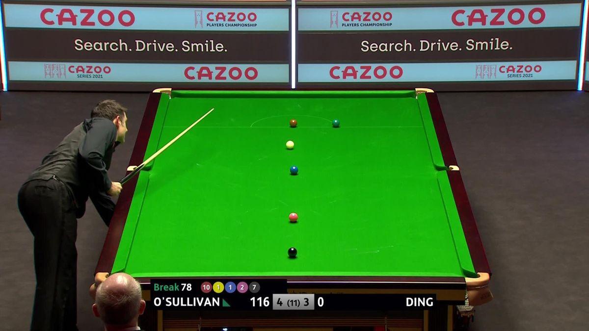 O'Sullivan padrone del tavolo: centone in scioltezza