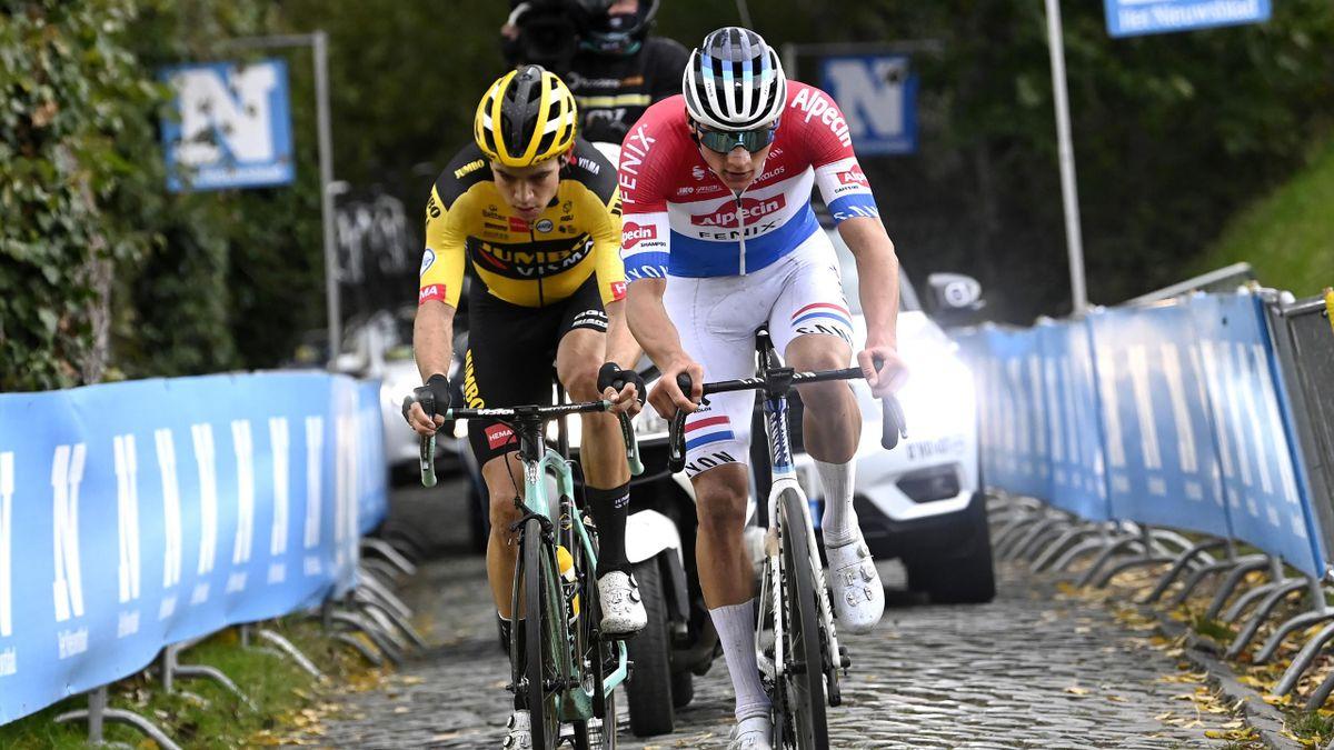 Mathieu van Der Poel (vorne) und Wout Van Aert - Flandern-Rundfahrt 2020