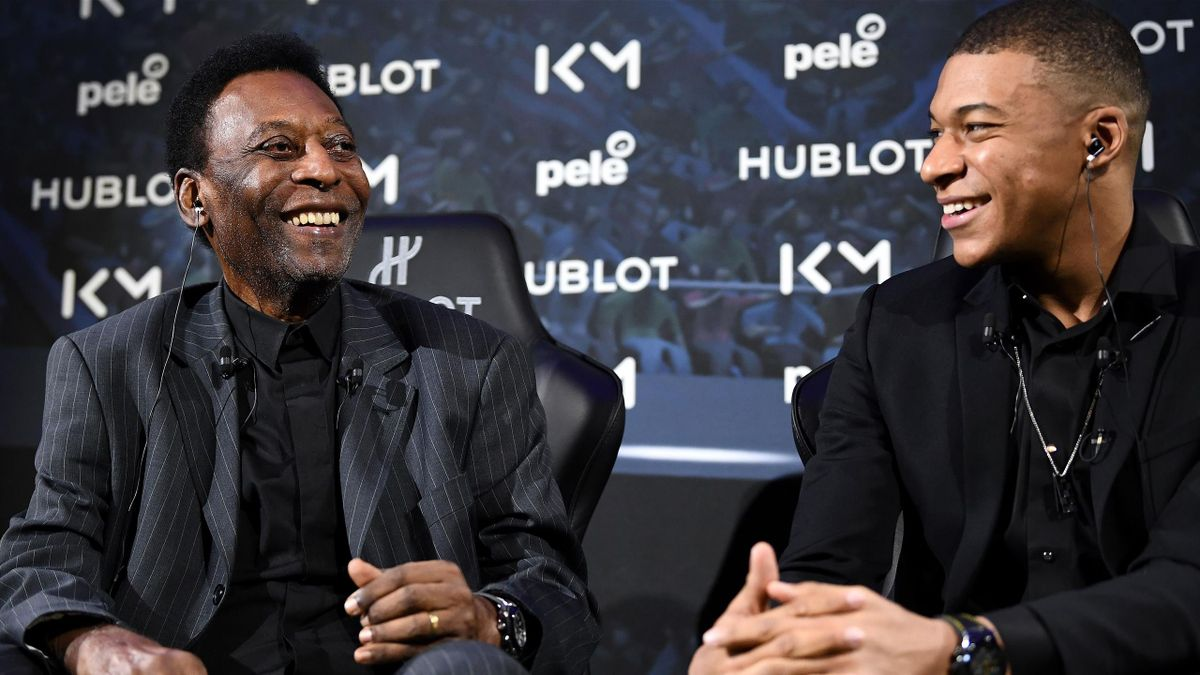 Pele was with Kylian Mbappe on Tuesday night in Paris
