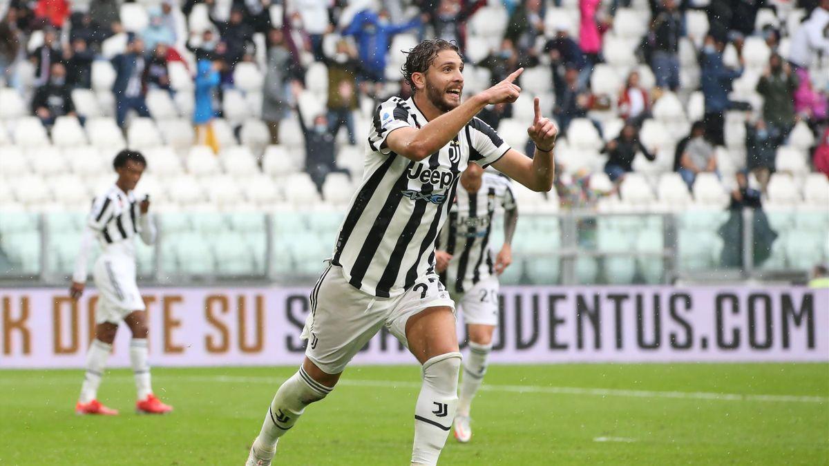 Manuel Locatelli célèbre son but contre la Sampdoria en 2021