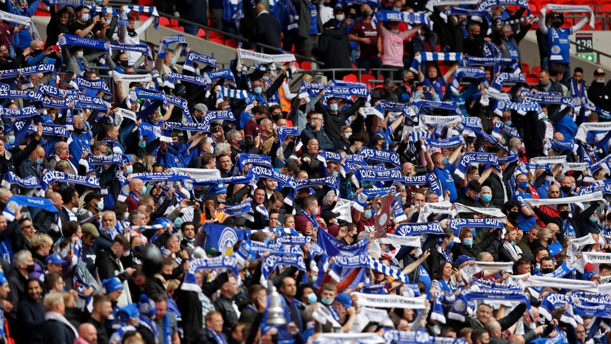 Leicester fans at Wembley