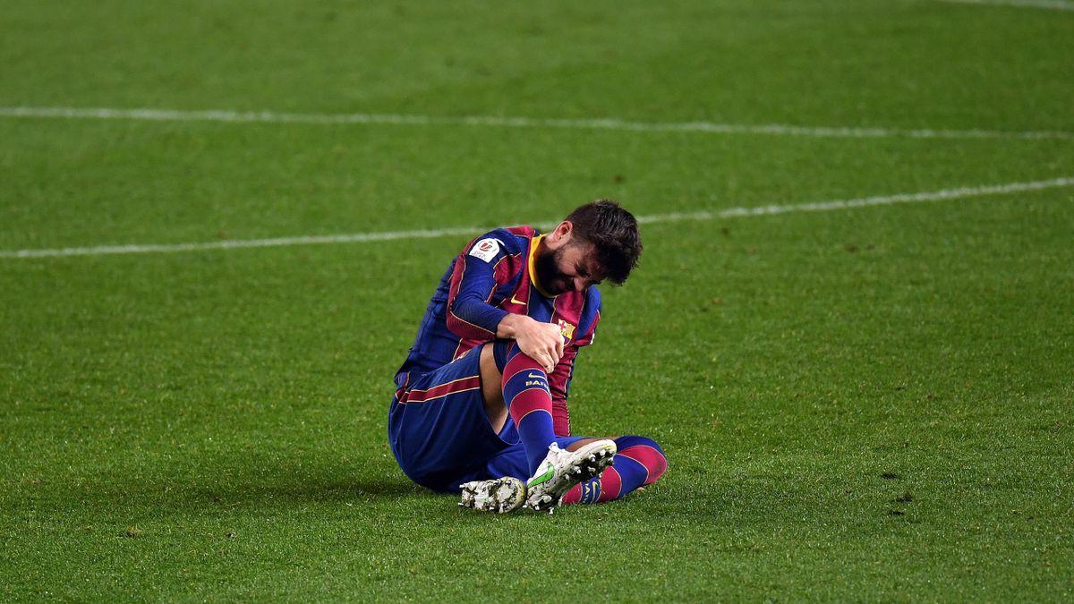 Gerard Pique injury