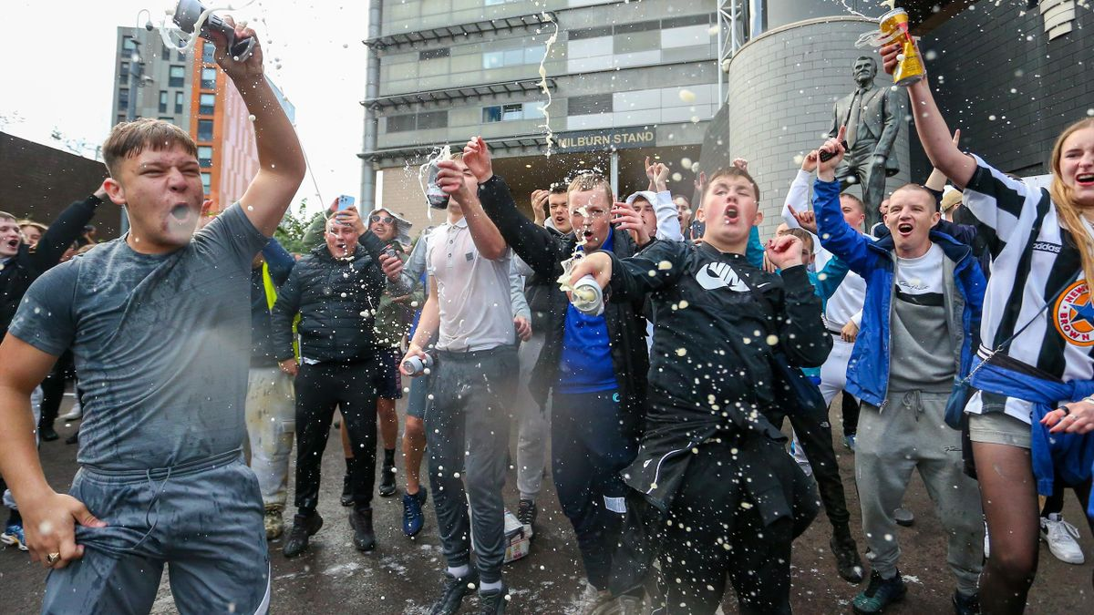 La joie des supporters de Newcastle