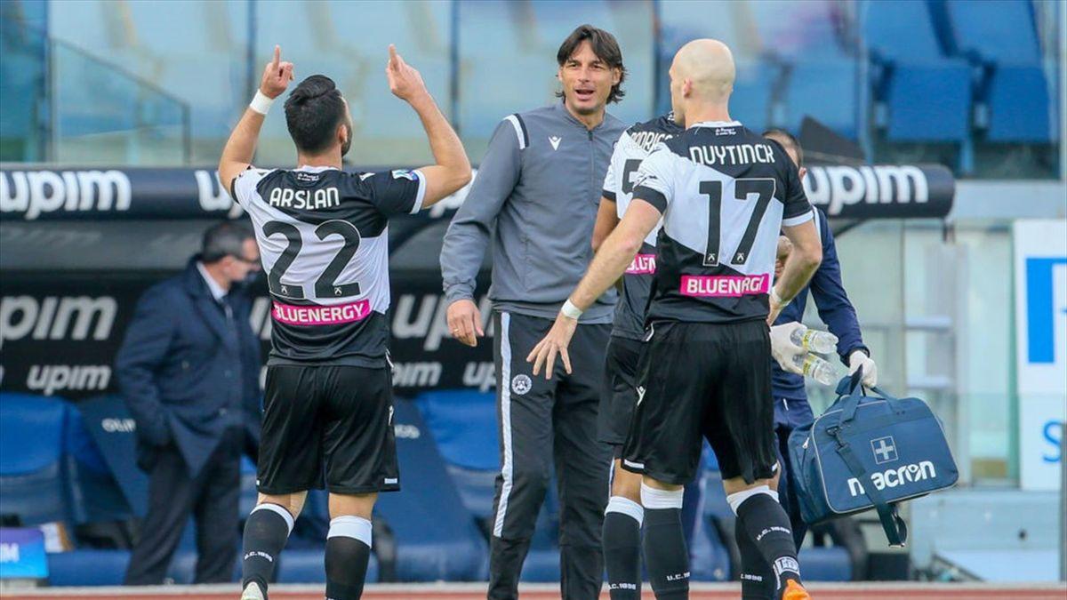 L'esultanza di Arslan - Lazio-Udinese Serie A 2020-21