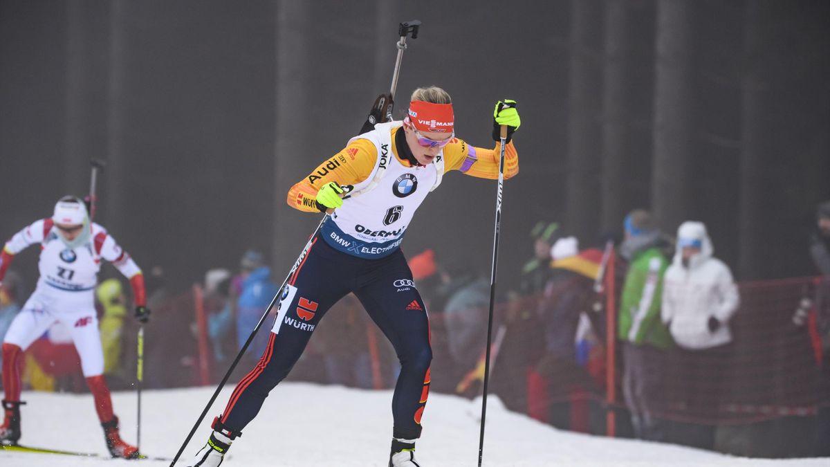 Denise Herrmann 2020 in Oberhof