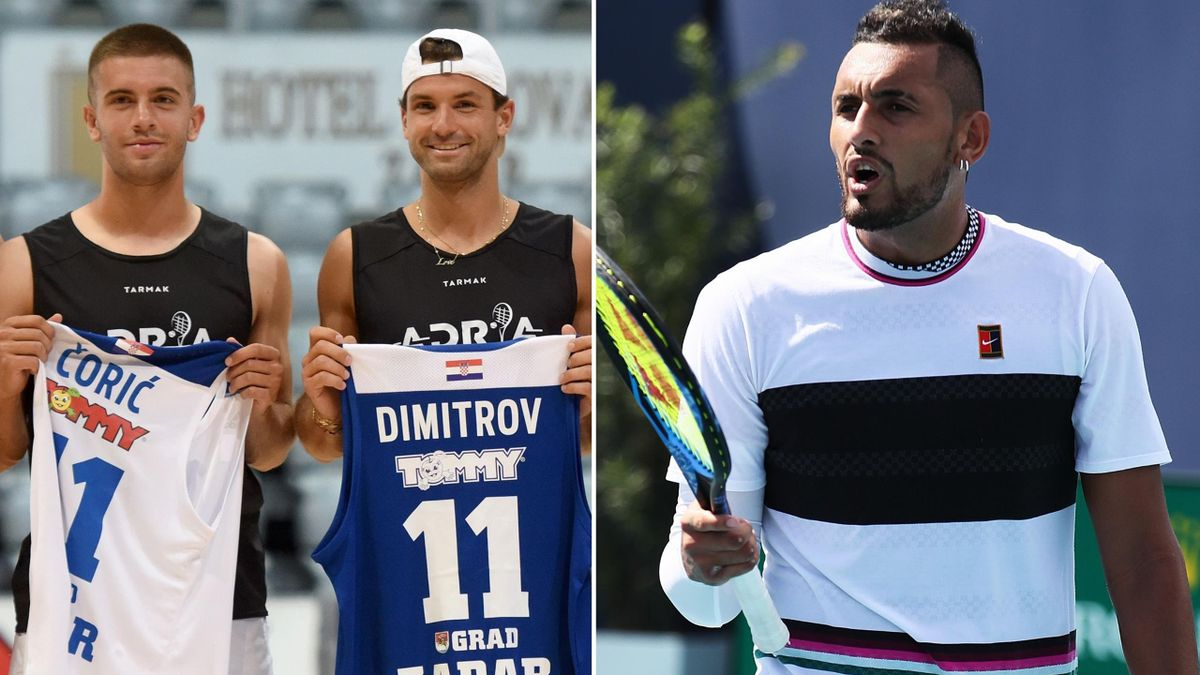 Nick Kyrgios has criticised the Adria Tour participants