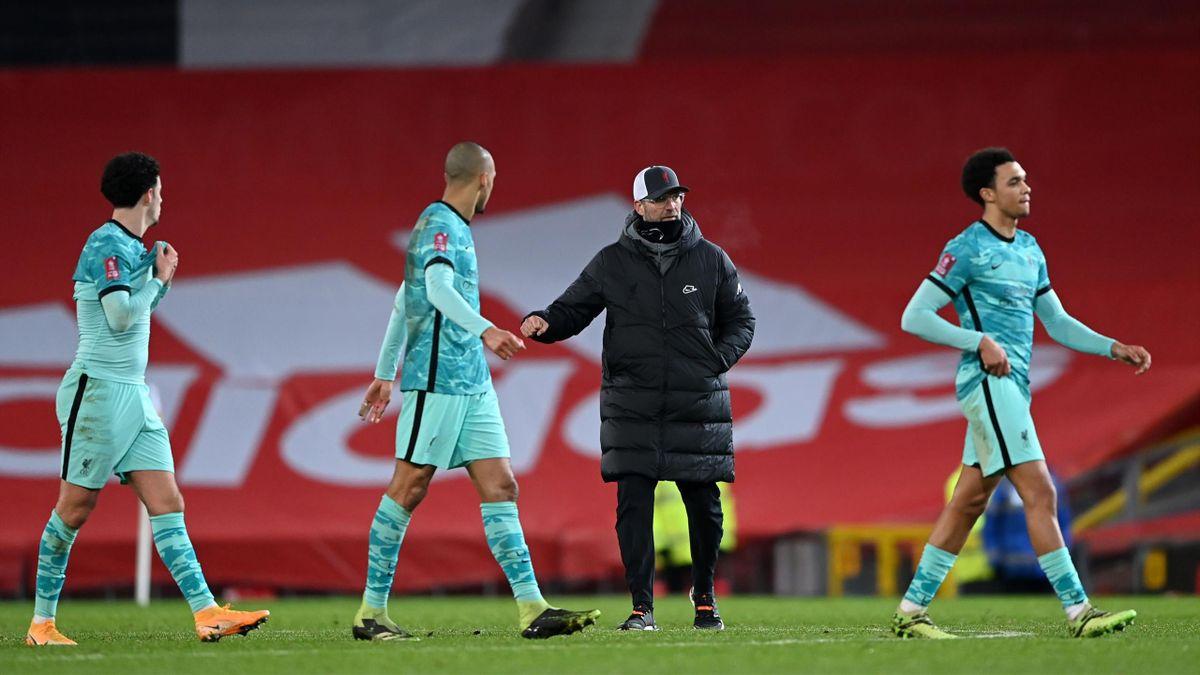 Jürgen Klopp (FC Liverpool) nach der Niederlage beim Manchester United