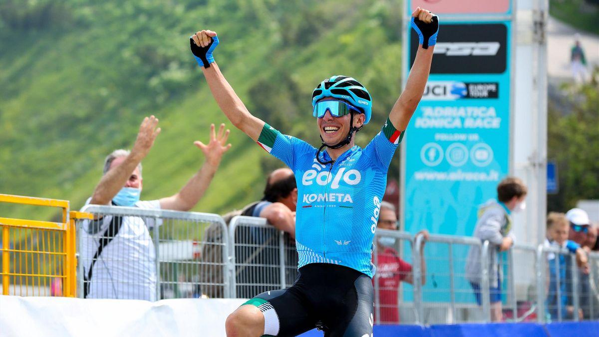 Lorenzo Fortunato vince sul Cima Grappa, seconda tappa dell'Adriatica Ionica Race 2021 - Imago pub only in ITAxGERxSUIxAUT