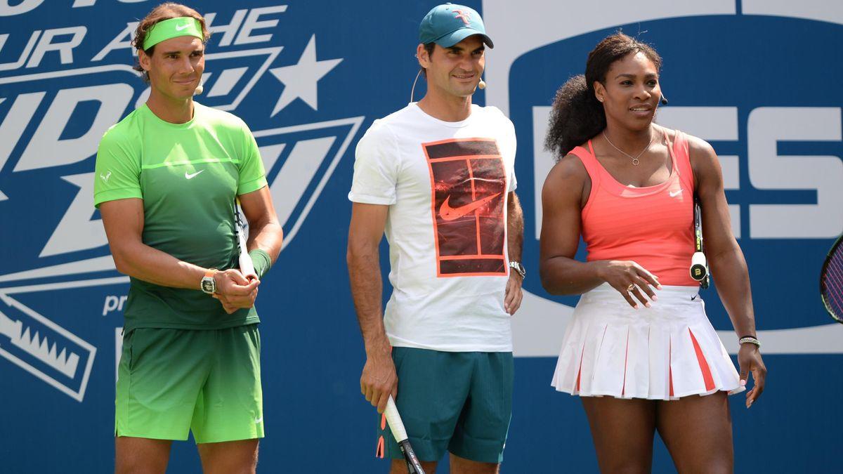 Rafa Nadal, Roger Federer e Serena Williams
