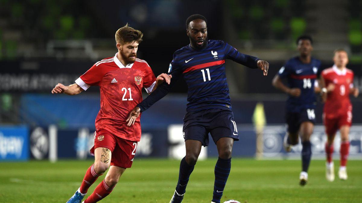 Jonathan Ikoné (France), face à la Russie, lors de l'Euro U21
