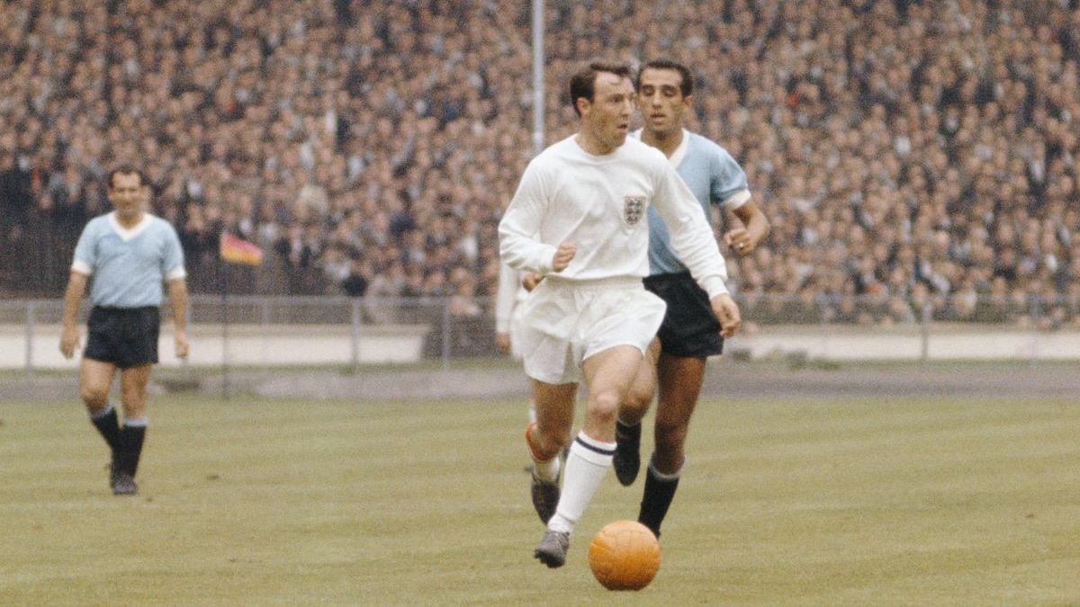 Jimmy Greaves avec l'Angleterre face à l'Argentine lors du Mondial 1966