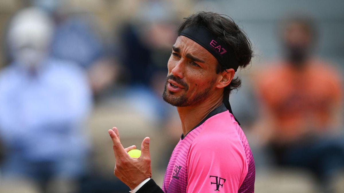 Fabio Fognini al Roland Garros 2021