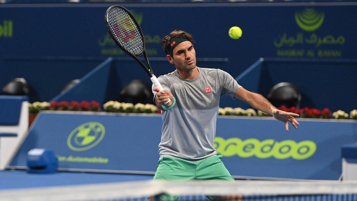 Roger Federer in Doha