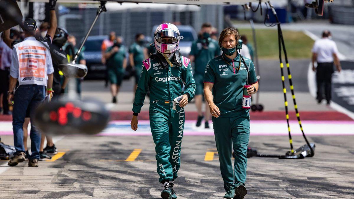 Sebastian Vettel (links)