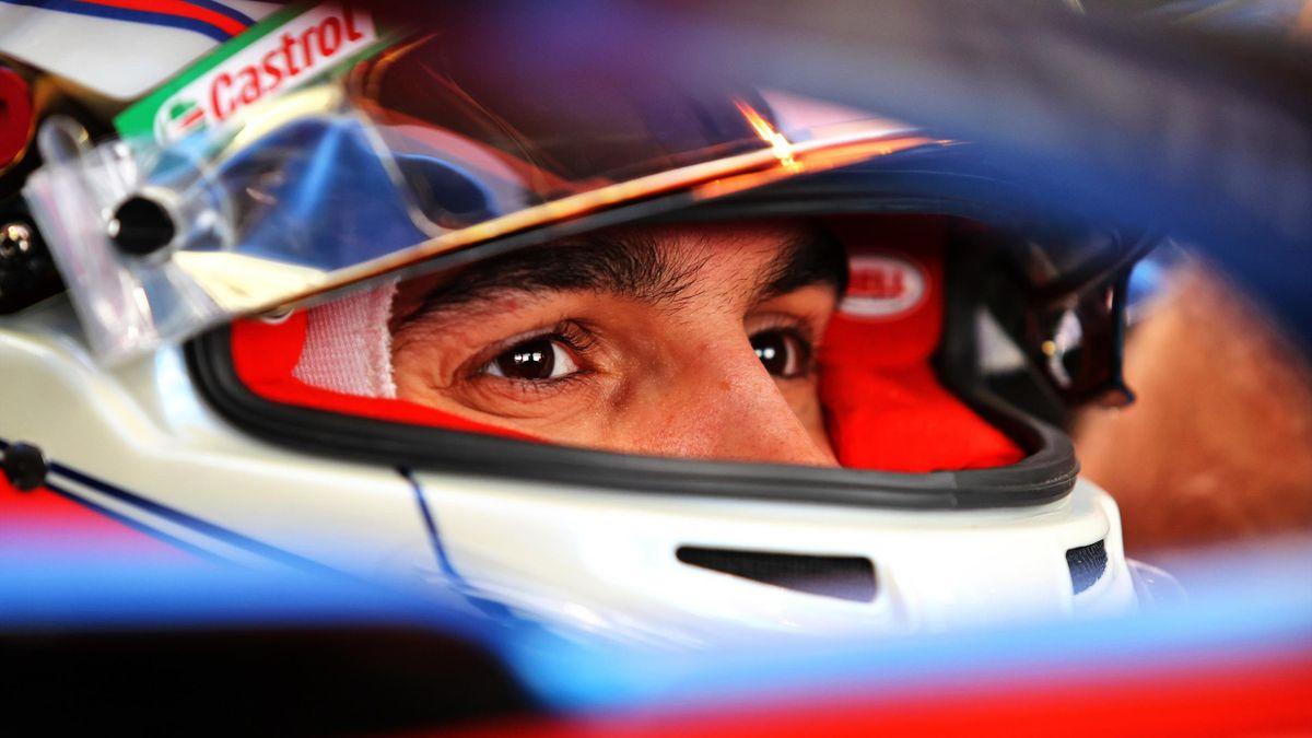Esteban Ocon (Alpine) lors des tests 2021 à Sakhir