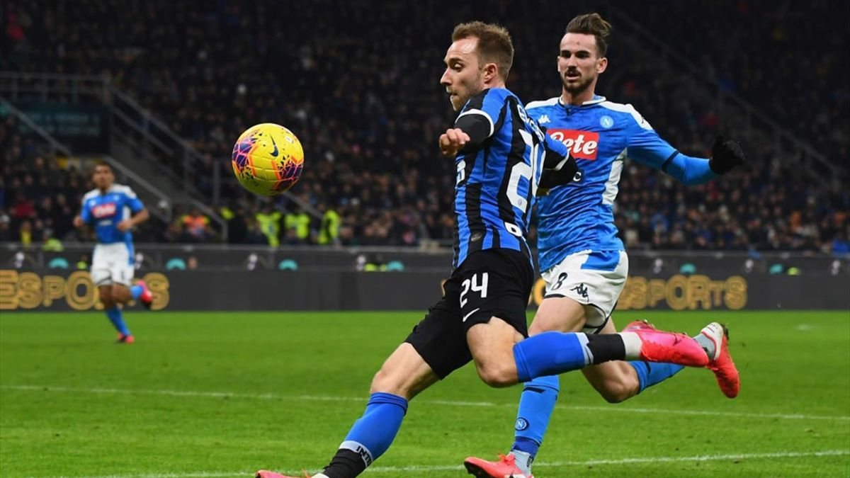 Eriksen, Fabian Ruiz - Inter-Napoli - Coppa Italia 2019/2020 - Getty Images