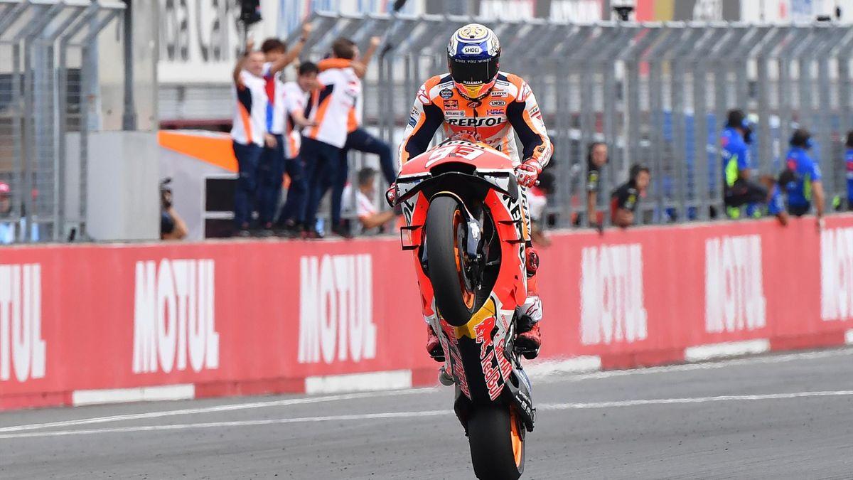 Marc Marquez (Honda HRC) lors de sa victoire au Grand Prix du Japon 2019
