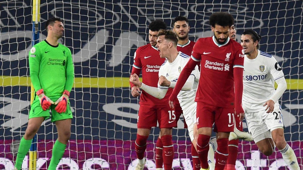 Liverpool frustré par Leeds lors de la 32e journée de Premier League