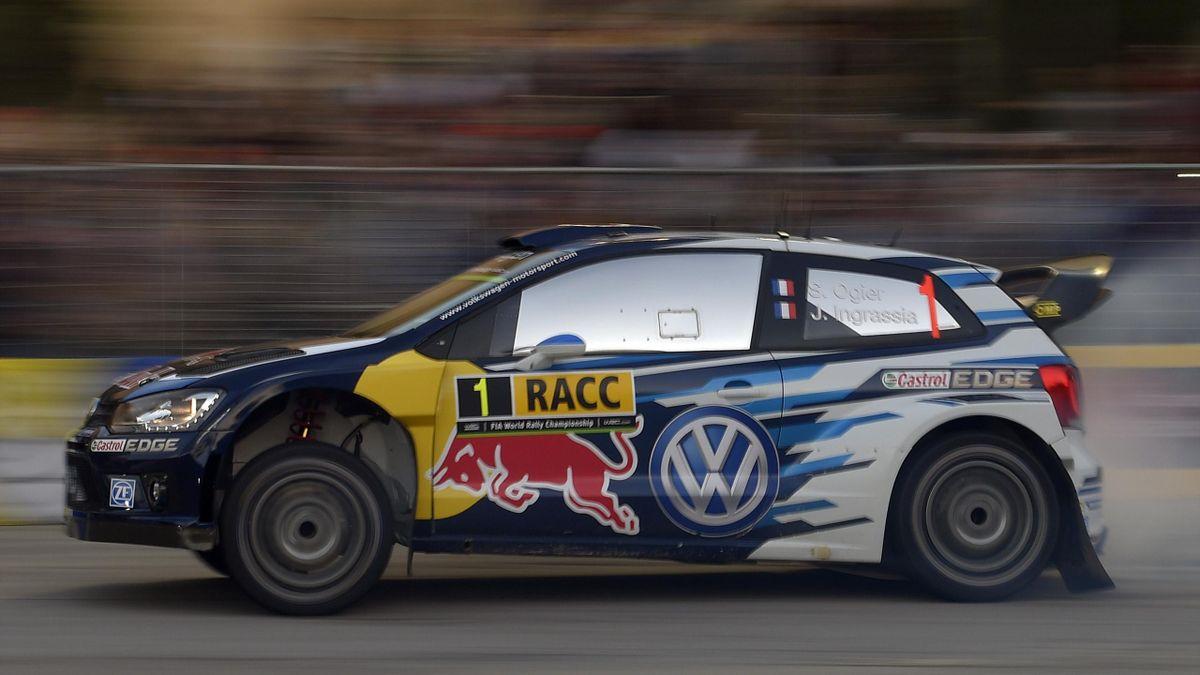 Volkswagen's Sebastien Ogier reclaimed the Rally Catalunya lead on Friday morning,