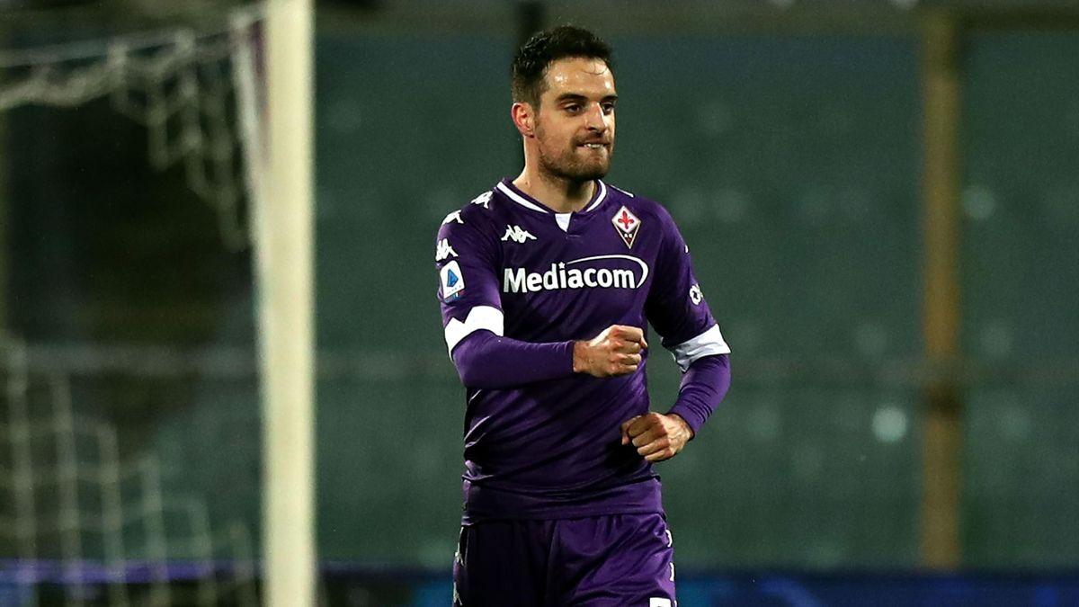 Fiorentina-Crotone, Serie A 2020-2021: Giacomo Bonaventura (Fiorentina) esulta dopo il gol-capolavoro dell'1-0 (Getty Images)