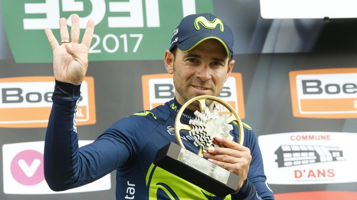 Alejandro Valverde gana la Lieja por cuarta vez
