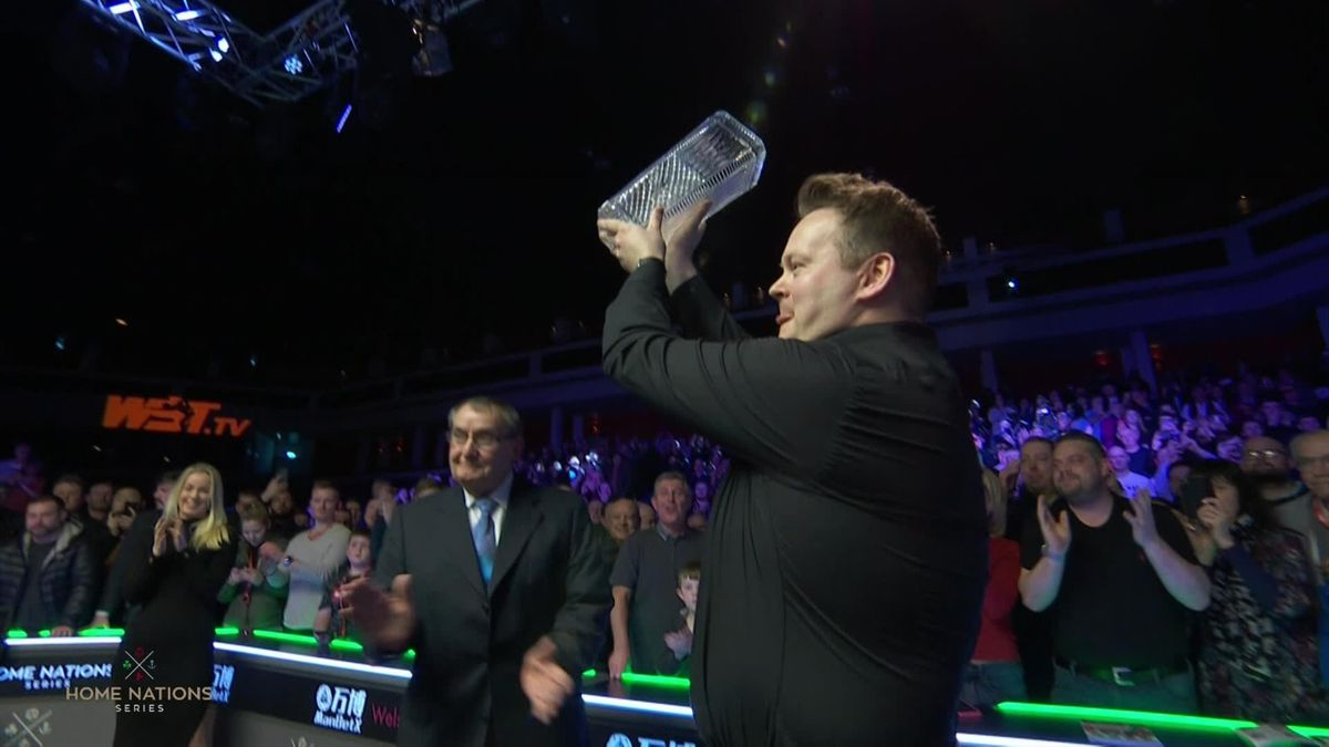 Snooker Welsh Open Final - Shaun Murphy's speach and trophy ceremony