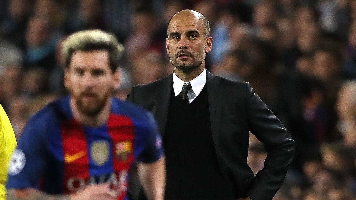 Pep Guardiola und Leo Messi