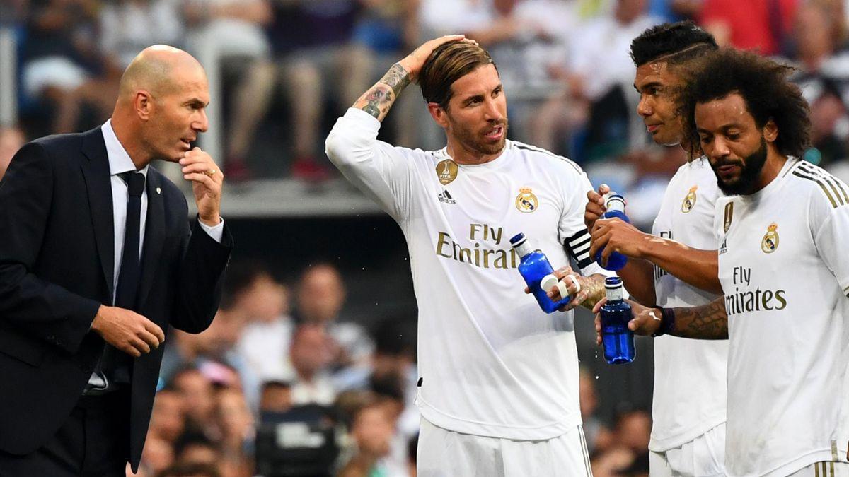 Zinedina Zidane, Sergio Ramos, Casemiro, Marcelo, Real Madrid