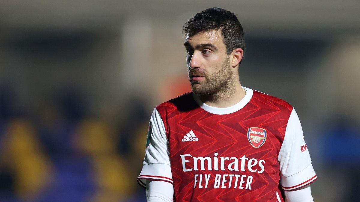 Sokratis Papastathopoulos while at Arsenal