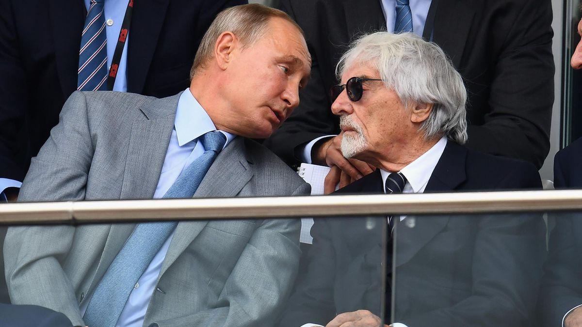 Владелец «Формулы-1» Берни Экклстоун, президент России Владимир Путин, 2018 год