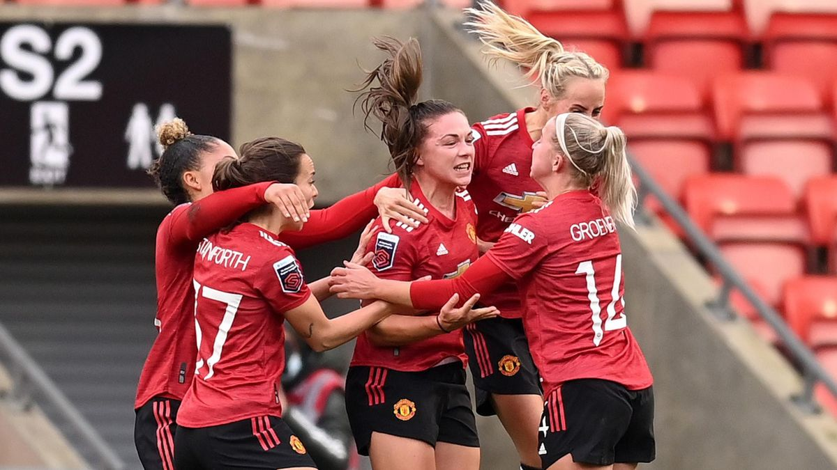 Kirsty Hanson equalised late on for Manchester United