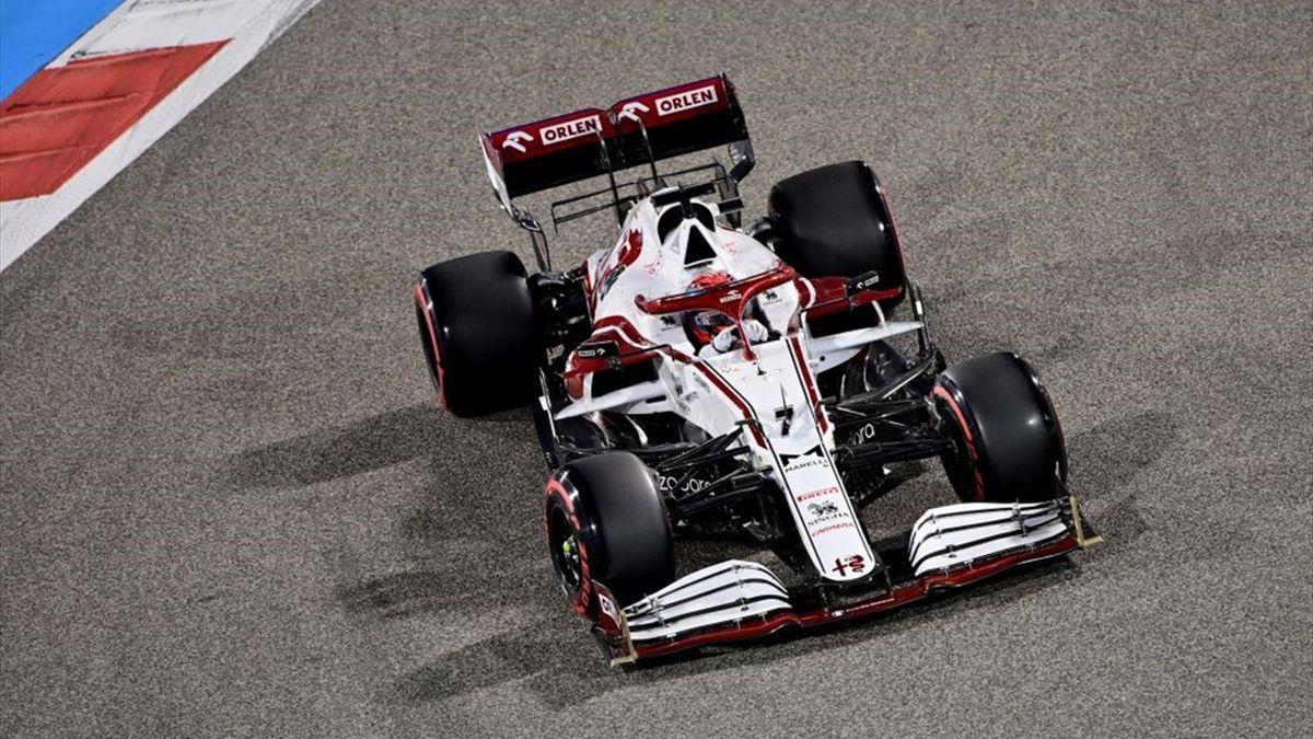 Kimi Räikkönen im Alfa Romeo beim Saisonauftakt in Bahrain