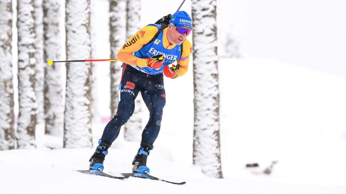 Erik Lesser bei der Biathlon-WM in Pokljuka