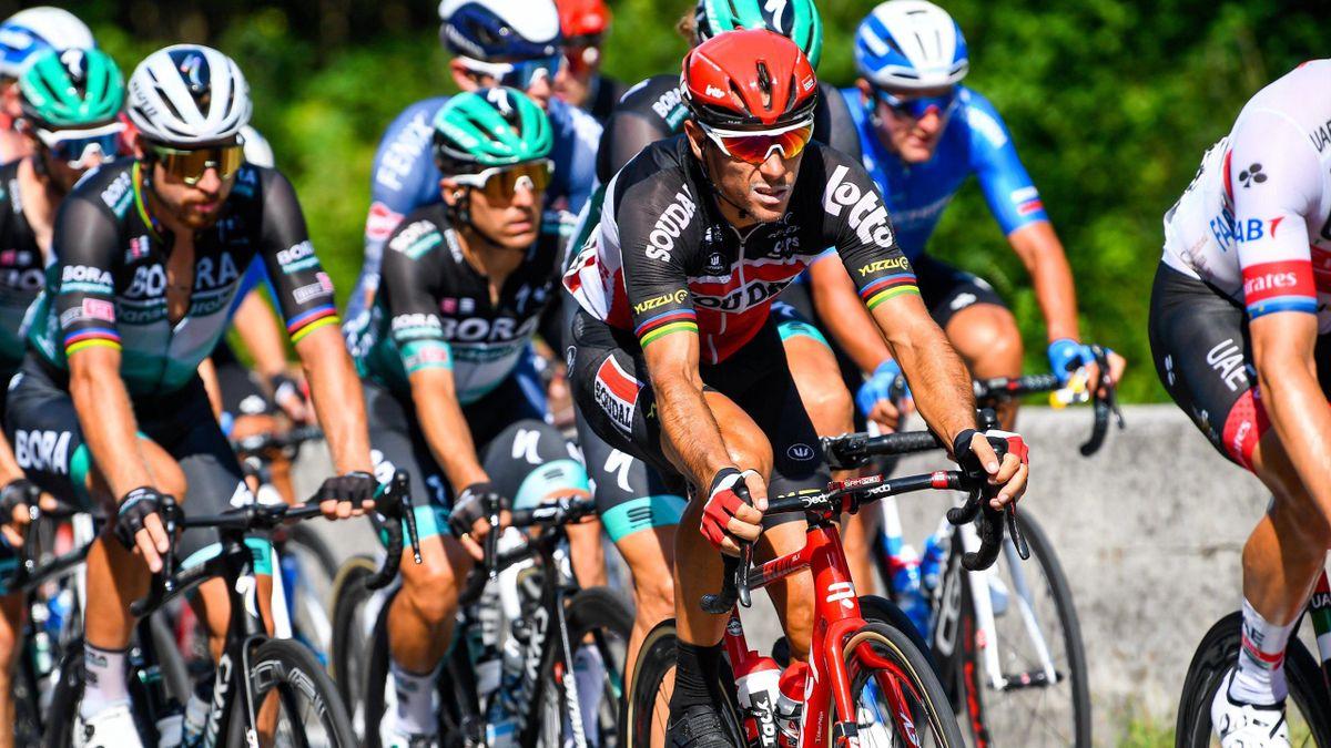 Für Philippe Gilbert (r.) vom Team Lotto Soudal ist die Tour de France schon nach der 1. Etappe beendet