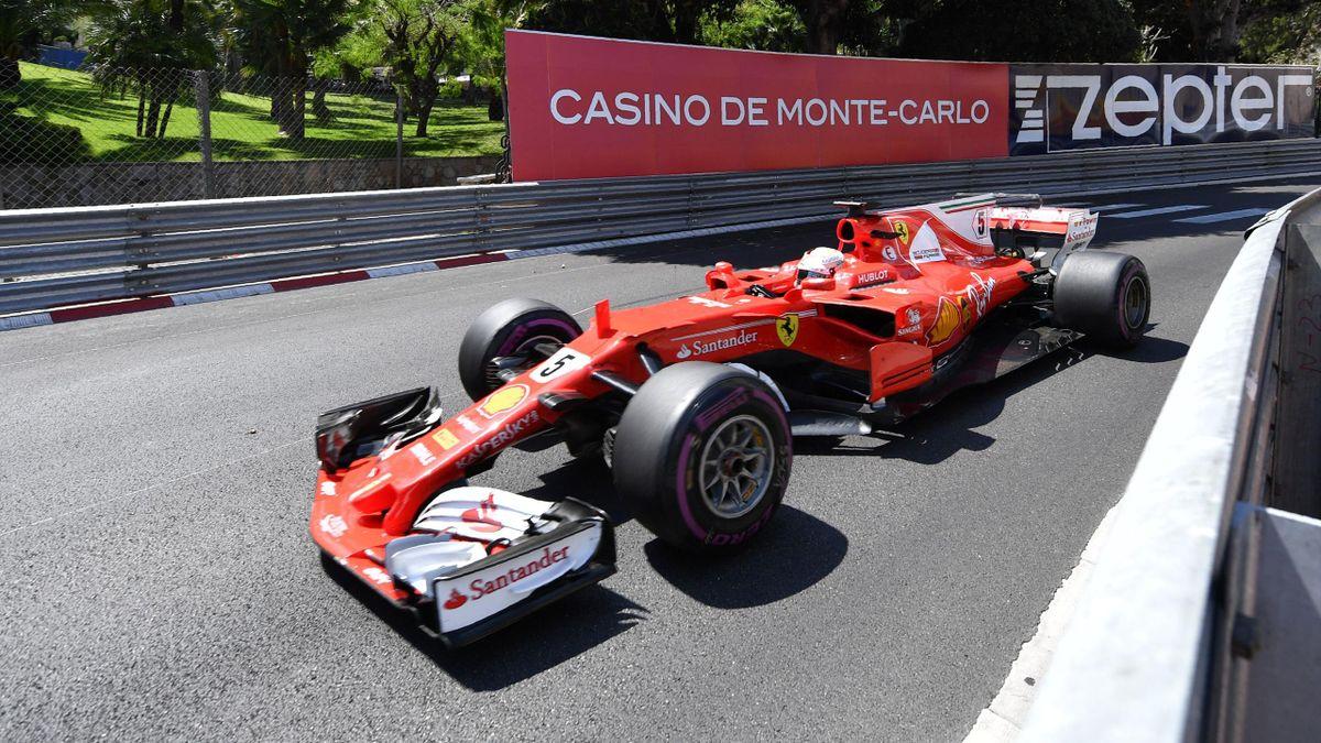 Sebastian Vettel (Ferrari) à Monaco