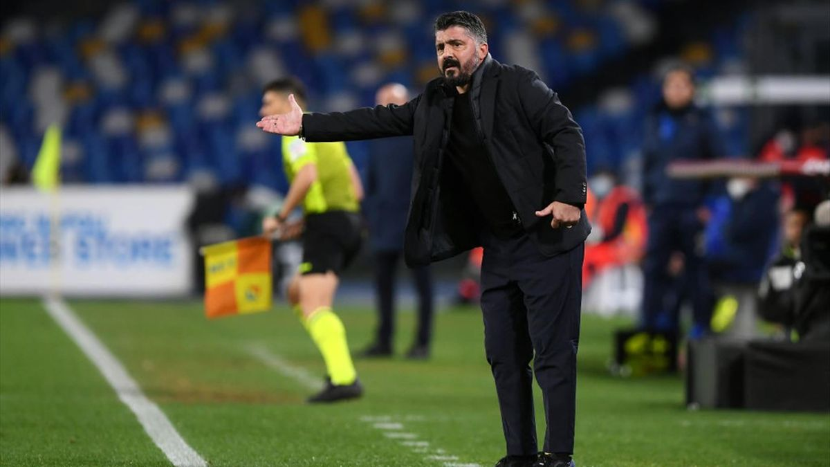 Gattuso - Napoli-Spezia - Coppa Italia 2020/2021 - Getty Images